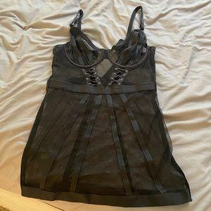 Bras n things  sheer lingerie dress 🖤